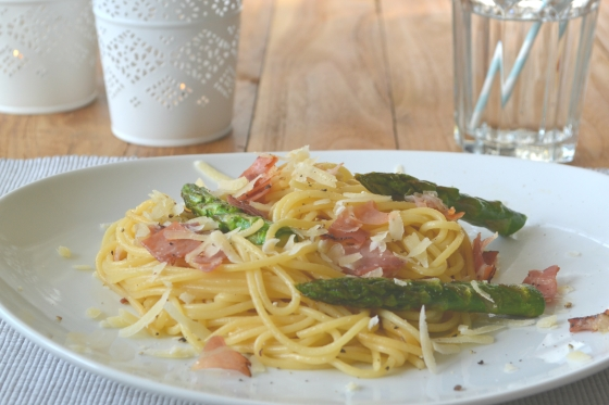 Spaghetti mit Spargel 4